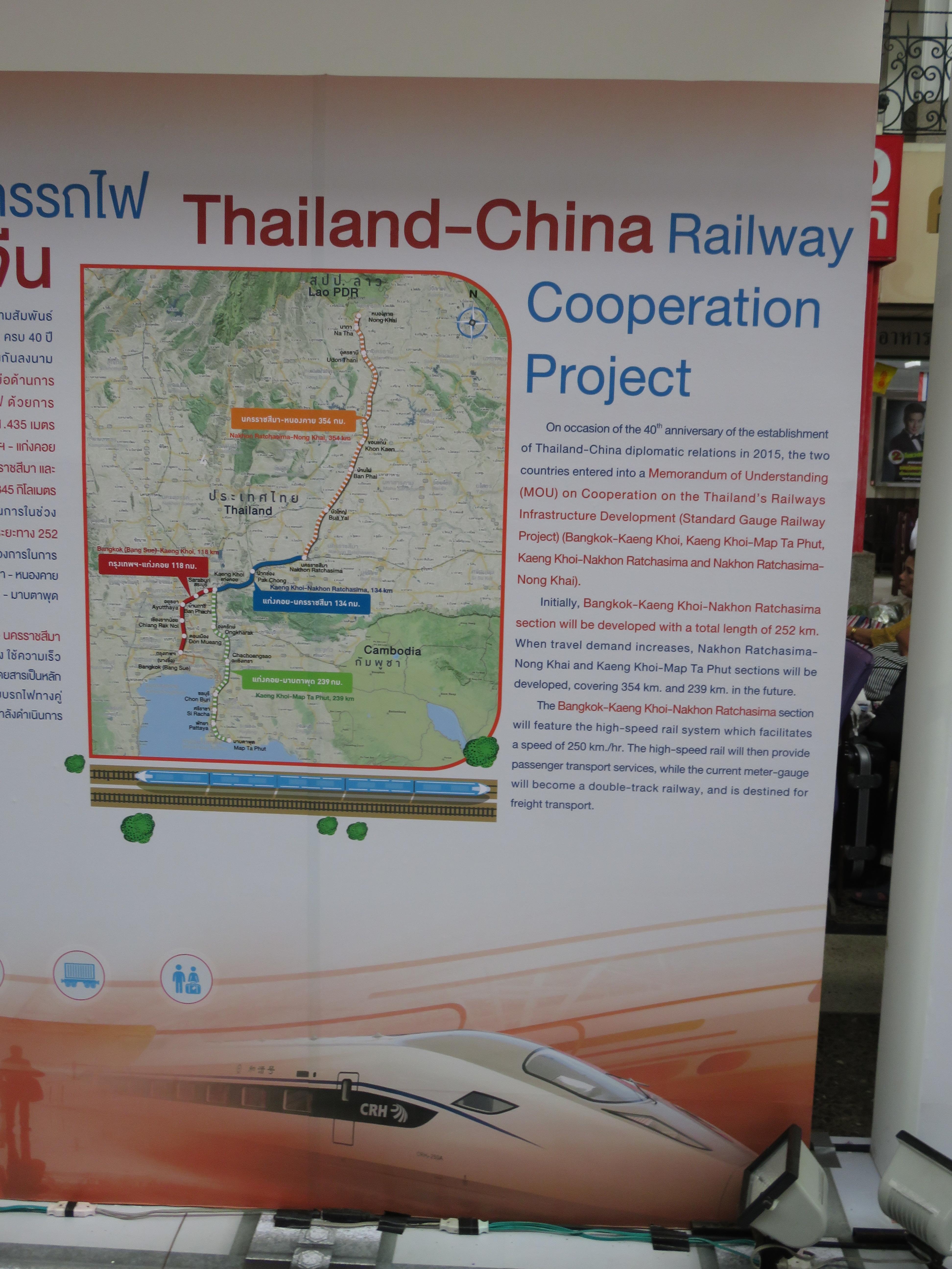 Pläne: Ausstellung im Bahnhof in Bangkok