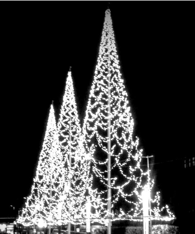 Weihnachtsbaum aus Lichtern